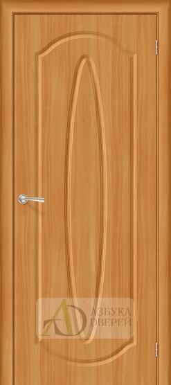 Межкомнатная дверь с ПВХ-пленкой Орбита Плюс ПГ, миланский орех