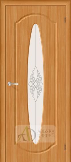 Межкомнатная дверь с ПВХ-пленкой Орбита Плюс ПО, миланский орех