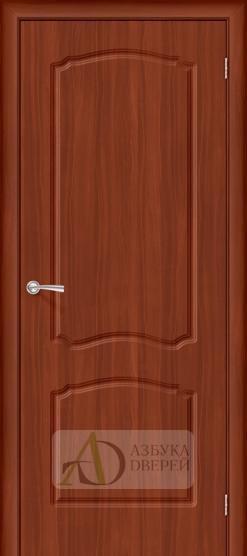 Межкомнатная дверь с ПВХ-пленкой Альфа ПГ итальянский орех