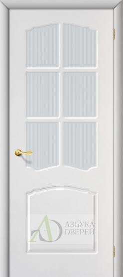 Межкомнатная дверь с ПВХ-пленкой Альфа ПО белая