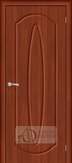 Межкомнатная дверь с ПВХ-пленкой Орбита Плюс ПГ, итальянский орех