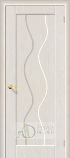 Межкомнатная дверь с ПВХ-пленкой Вираж ПГ беленый дуб