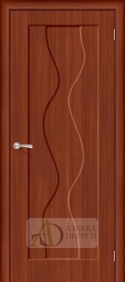 Межкомнатная дверь с ПВХ-пленкой Вираж ПГ итальянский орех