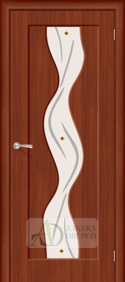 Межкомнатная дверь с ПВХ-пленкой Вираж ПО итальянский орех