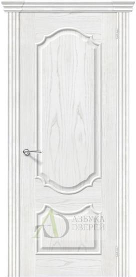 Межкомнатная шпонированная дверь Париж ПГ Жемчуг