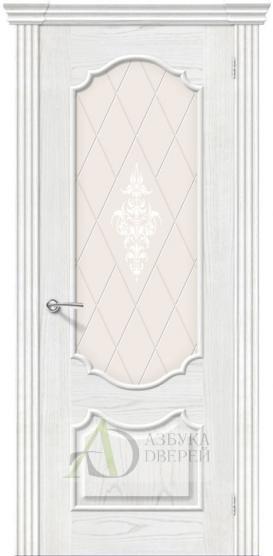 Межкомнатная шпонированная дверь Париж ПО Жемчуг