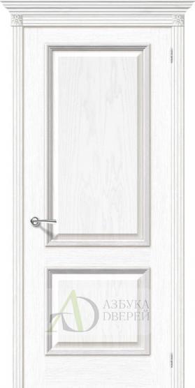 Межкомнатная шпонированная дверь Шервуд  Белый дуб ПГ