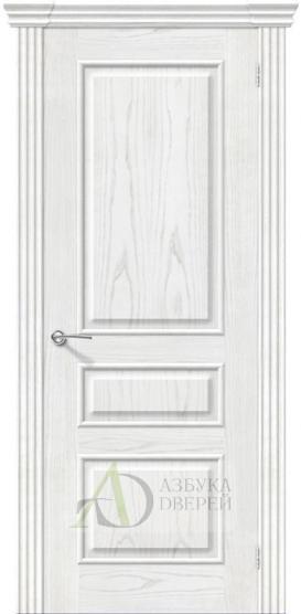Межкомнатная шпонированная дверь Сорренто ПГ Жемчуг