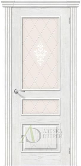 Межкомнатная шпонированная дверь Сорренто ПО Жемчуг