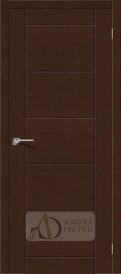 Межкомнатная шпонированная дверь Граффити-4 Венге