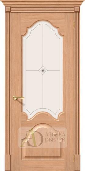 Межкомнатная шпонированная дверь Афина ПО дуб файн-лайн