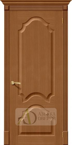 Межкомнатная шпонированная дверь Афина ПГ орех файн-лайн