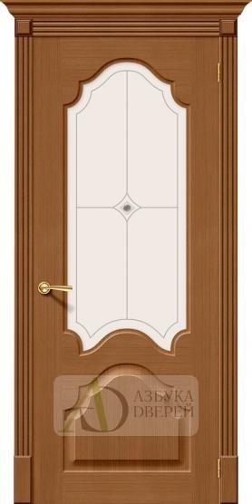 Межкомнатная шпонированная дверь Афина ПО орех файн-лайн