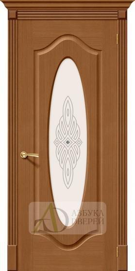 Межкомнатная дверь Аура ПО Ф-11 (Орех)