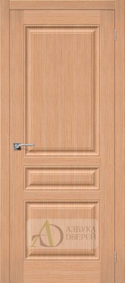 Межкомнатная шпонированная дверь Статус-14 дуб файн-лайн