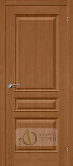 Межкомнатная шпонированная дверь Статус-14 орех файн-лайн