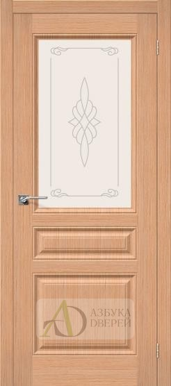 Межкомнатная шпонированная дверь Статус-15 дуб файн-лайн