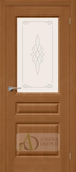 Межкомнатная шпонированная дверь Статус-15 орех файн-лайн