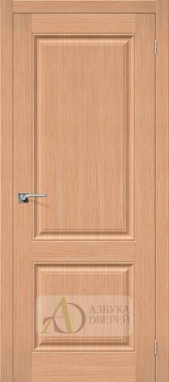 Межкомнатная шпонированная дверь Статус-12 дуб файн-лайн
