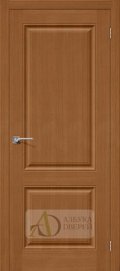 Межкомнатная шпонированная дверь Статус-12 орех файн-лайн