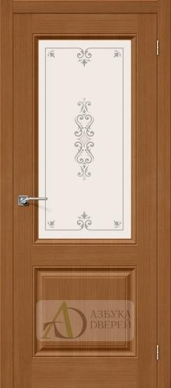 Межкомнатная шпонированная дверь Статус-13 орех файн-лайн