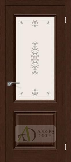 Межкомнатная шпонированная дверь Статус-13 Венге