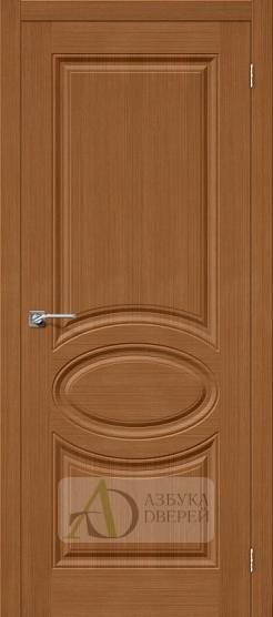 Межкомнатная шпонированная дверь Статус-20 орех файн-лайн