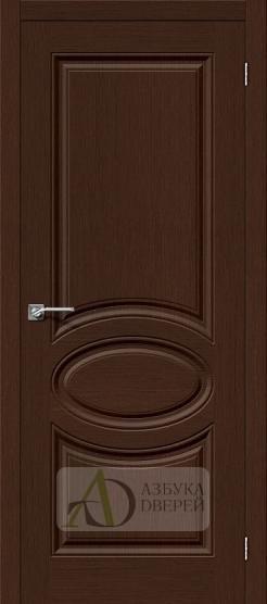 Межкомнатная шпонированная дверь Статус-20 Венге