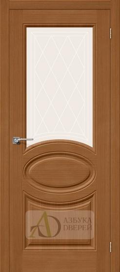Межкомнатная шпонированная дверь Статус-21 орех файн-лайн
