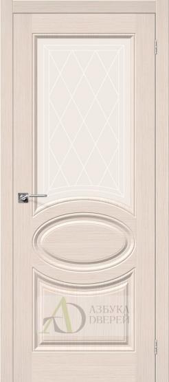 Межкомнатная шпонированная дверь Статус-21 БелДуб