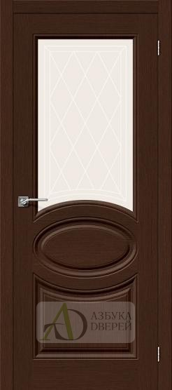 Межкомнатная шпонированная дверь Статус-21 Венге
