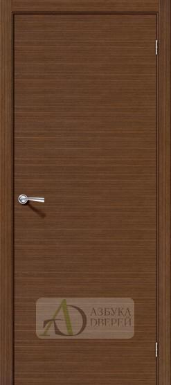 Межкомнатная шпонированная дверь Соло-0.H Орех