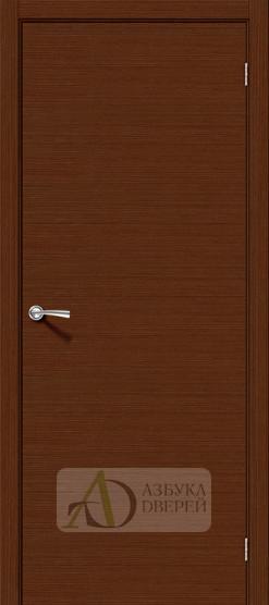 Межкомнатная шпонированная дверь Соло-0.H Шоколад