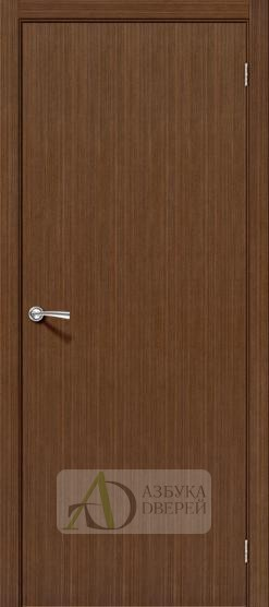 Межкомнатная шпонированная дверь Соло-0.V Орех
