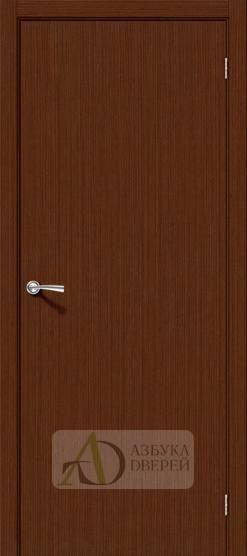 Межкомнатная шпонированная дверь Соло-0.V Шоколад