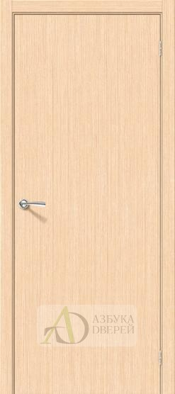 Межкомнатная шпонированная дверь Соло-0.V БелДуб