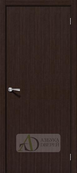 Межкомнатная шпонированная дверь Соло-0.V Венге