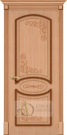 Межкомнатная шпонированная дверь Азалия ПГ Дуб