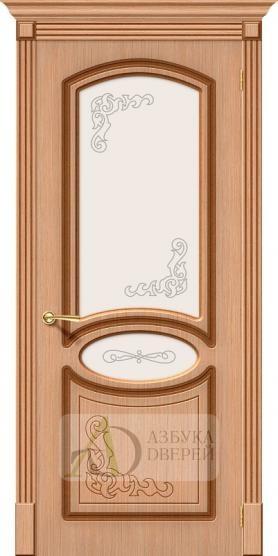 Межкомнатная шпонированная дверь Азалия ПО Дуб