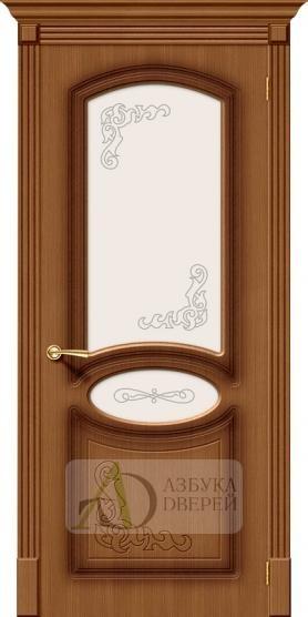Межкомнатная шпонированная дверь Азалия ПО Орех