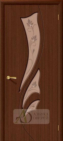 Межкомнатная шпонированная дверь Эксклюзив ПО Шоколад