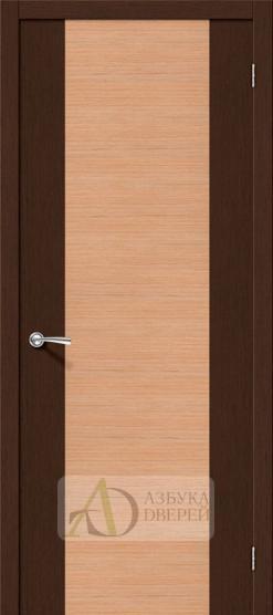 Межкомнатная шпонированная дверь Этюд ПГ Венге/Дуб