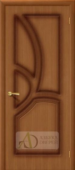 Межкомнатная шпонированная дверь Греция ПГ Орех