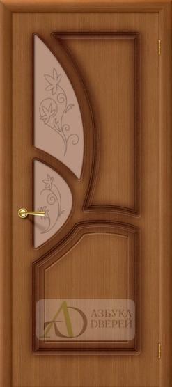 Межкомнатная шпонированная дверь Греция ПО Орех  Художественное