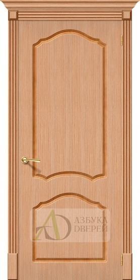 Межкомнатная шпонированная дверь Каролина ПГ Дуб файн-лайн
