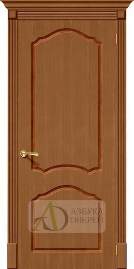 Межкомнатная шпонированная дверь Каролина ПГ Орех файн-лайн