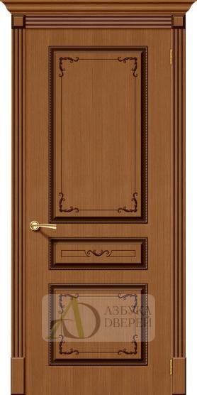 Межкомнатная шпонированная дверь Классика ПГ Орех