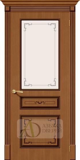 Межкомнатная шпонированная дверь Классика ПО Орех