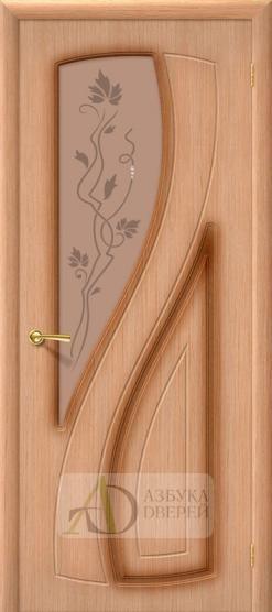 Межкомнатная шпонированная дверь Лагуна ПО Дуб