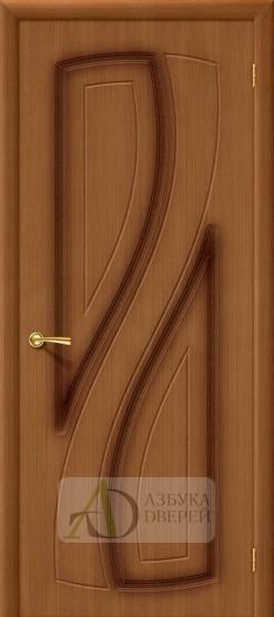 Межкомнатная шпонированная дверь Лагуна ПГ Орех
